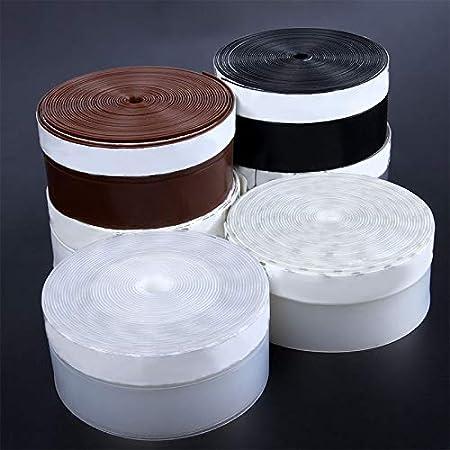 Blanco Guajave 1 Tira de Sellado autoadhesiva de 1 m de Silicona para Puertas y Ventanas 45 mm Resistente al Polvo