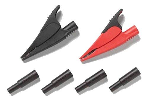 Alligator Fluke Clips (Fluke AC285-FTP Alligator Clips and Adaptors, 1000V Voltage, 10A Current, Red and Black, For FTP-1 or FTPL-1 Fused Test Probes)