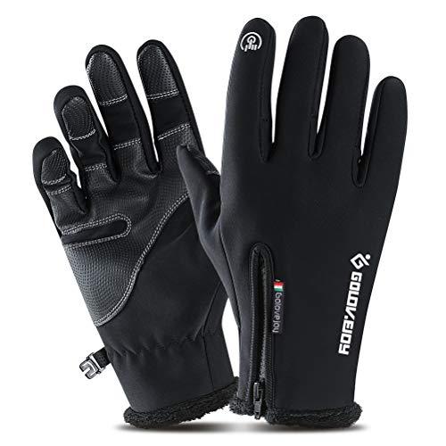 Black Winter Touchscreen Gloves - Laiyuan Cold Weather Gloves for Men M Black