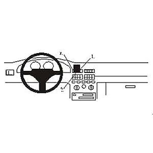 Brodit ProClip - Kit de coche para Fiat Punto 94-99  (para Europa, montaje central)