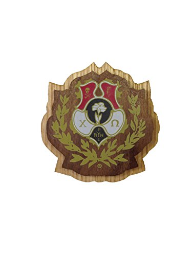 Chi Omega Sorority Wood Crest Made of Wood for Paddle Mascot Board Chi O (3.5