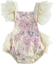 Infant Newborn Baby Girl Lace Romper Crochet Floral Backless Bodysuit Dress One Piece Jumpsuit Summer Clothes