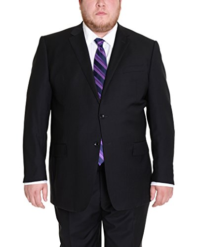 (Mens Regular Fit Black Tonal Striped Two Button Super 150s Wool Suit)