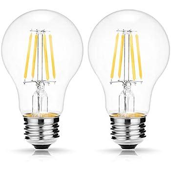 A19 DC12V LED Vintage Filament Bulb, DORESshop 4W Dimmable Edison Globe Light Bulb, E26 Base, 2700K Warm White, Clear Glass Cover, Led Clear Light Bulb, ...