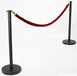 Rope Barrier Stanchion Set - (2) 39\