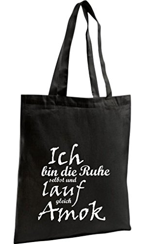 Para Mujer Algodón Negro De Shirtstown Bolso Tela gq8xwIzp