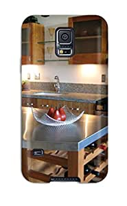 Hot Snap-on Stainless Steel Kitchen Island Countertop With Island Wine Rack Hard Cover Case/ Protective Case For Galaxy S5