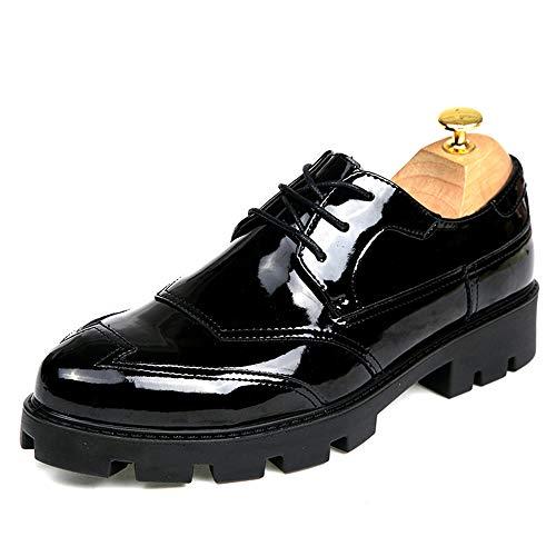 e Convenzionali Gloss Cricket Black Business Casual Scarpe Scarpe Brogue Soletta da verniciate Pelle Oxford Uomo Moda in Casual rialzata da H7HqUTwxO
