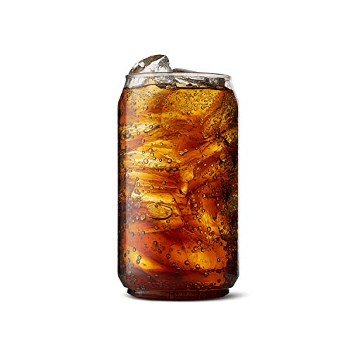 TOSSWARE 12oz Recyclable Beer Plastic Set of 12-shatterproof and BPA-Free Can, Clear