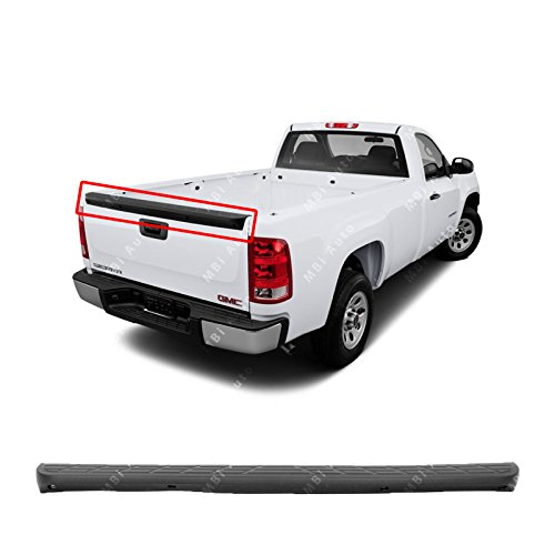 (MBI AUTO - Textured, Tailgate Top Protector Molding Spoiler for 2007-2013 Chevy Silverado & GMC Sierra 07-13, GM1904104)