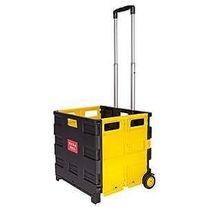 Pre & mium 35 kg plegable carrito de la compra plegable para carro caja de almacenaje