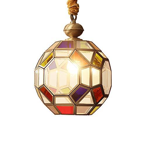 Coloured Glass Pendant Light Fittings