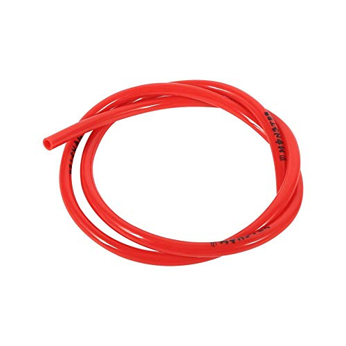 Colorful Gas Petrol Fuel Line Hose Tube Pipe, Petrol 1/4 inch 3 Feet for Motorcycle Dirt Pit Bike ATV Snowmobile PWC Jet Ski Polyurethane(Red)