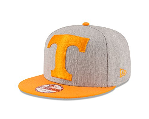 NCAA Tennessee Volunteers Men's Heather Grand Snap 9FIFTY Snapback Cap, Gray, One Size New Era 9fifty Snap
