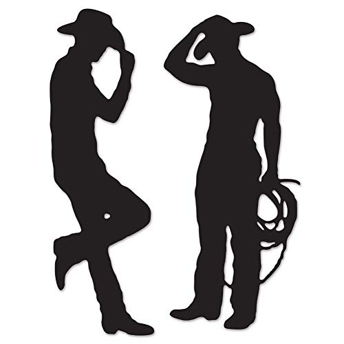 Beistle 54225 Cowboy Silhouettes, 35-Inch and