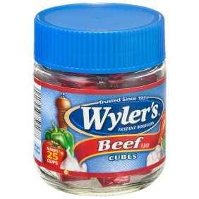 Wyler's Instant Beef Bouillon Cubes (Pack of 2) 3.25 oz Jars