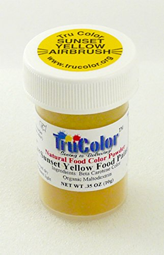 TruColor Airbrush Natural Food Color (Lg. Jar) Sunset Yellow by TruColor (Image #2)