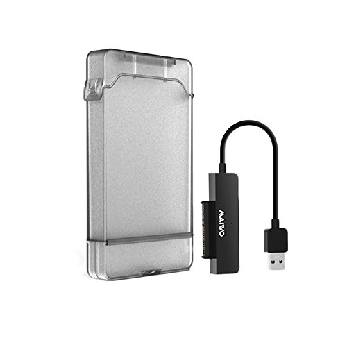 2.5 Inch Hard Drive Enclosure, YFShine USB 3.0 Hard Drive Disk External Enclosure Transparent Case Tool Free for 9.5mm HDD and SSD Compatible with Windows XP / Vista / 7 / 8 / 10, Mac OS