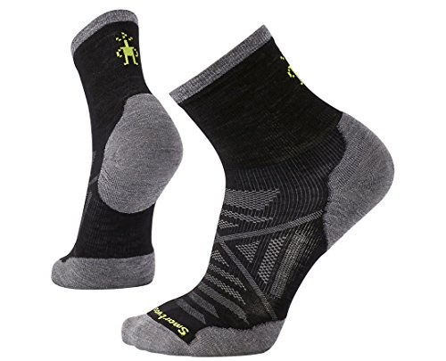 Smartwool Men's PhD Run Cold Weather Mid Crew Socks (Black) Medium