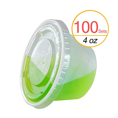 TashiBox 4 oz Plastic Cups / Disposable Portion Cups / Souff