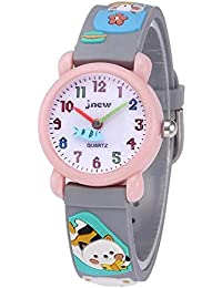 3D Lovely Cartoon Waterproof Silicone Kids Watch for Kids...