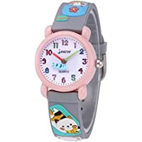 GZCY 3D Lovely Cartoon Waterproof Silicone Kids Watch for Kids 2018 The Best Gifts