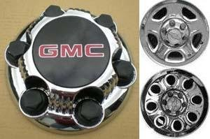 16 17 Inch OEM GMC 6 Lug Chrome Plated Center Cap Hubcap Wheel Rim Cover 1999-2013 1500 Pickup Truck VAN SUV Sierra Savana Yukon 5129 5223 7.25