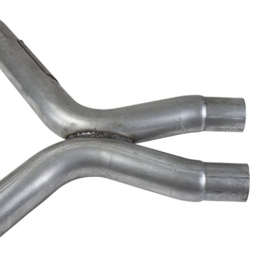 BBK 1461 2-3/4'' High Flow Short Mid X Pipe with High Flow Catalytic Converters for Mustang V6 (Required For Use With BBK Long Tube Exhaust Headers) by BBK Performance (Image #1)