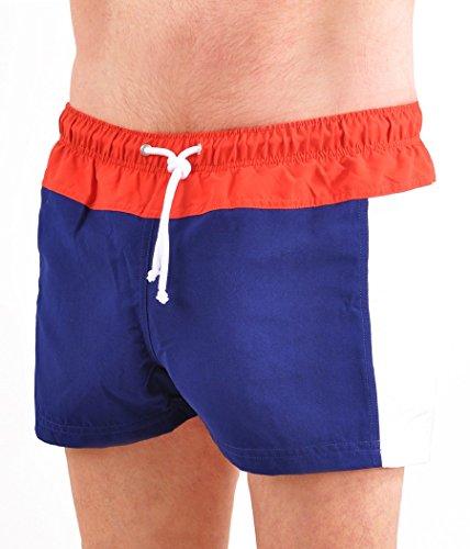 Italian Style Men's Swim Boxer Trunks - X-Large/Rosso