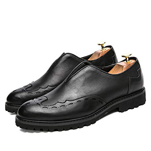 per Color Fashion leggere Ofgcfbvxd Per Comfortable Oxford EU Dimensione aziendale Shoes casual uomo Nero British Calzature 43 lavoro Brogue leggere Nero Prints FaFqgtw