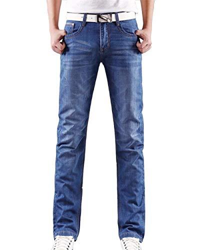 Casual Jeans A Fit Uomo Moda Denim Hellblau Gamba Di In Da Alla Regular Pantaloni Slim Dritta Base Retrò zqf4Zdz