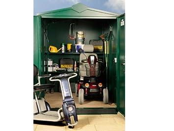 Cobertizo grande para Scooter, almacenamiento seguro al aire libre (embalaje plano): Amazon.es: Jardín