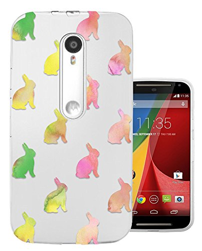 C01505 - Colourful Rabbit Pattern Design Motorola Moto G3 Fashion Trend CASE Gel Rubber Silicone All Edges Protection Case Cover