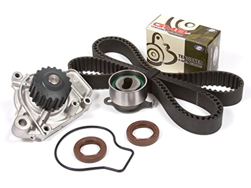 Evergreen TBK143WPT Fits 88-95 Honda Civic Del Sol 1.5 SOHC D15B1 D15B2 D15B6 D15B7 D15B8 Timing Belt Kit Water Pump