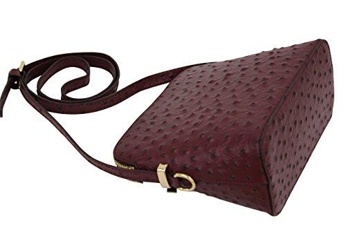 en pour Moda bandoulière Sac AMBRA sac Petit main Bordeaux SL702 à femme a cuir fttqIv