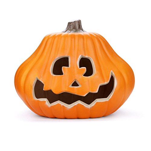 [Jack-O-Lantern, Anxinke 14inch Lantern Light Hanging Halloween Props Pumpkin, Halloween Decoration Hard Plastic Lamp] (Hanging Halloween Props)