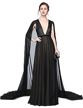 HY&OB Una Línea V-Cuello Palabra De Longitud Gasa Vestido De Noche Formal Con La