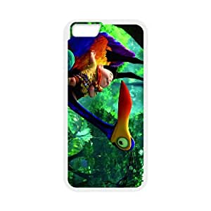 cartoon boy and peacocknormal iPhone 6 Plus 5.5 Inch Cell Phone Case White 53Go-458524