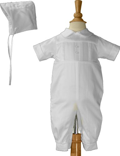 Cotton Heirloom Christening Outfit with Inset Tucked Band