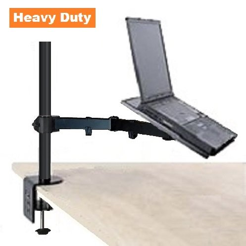 EZM Notebook/Laptop Arm Extenstion Mount Desktop Stand Clamp with Grommet Mount Option (002-0005)