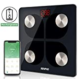 RENPHO Bluetooth Body Fat Smart Scale USB Rechargeable Digital Bathroom Weight Scale Body
