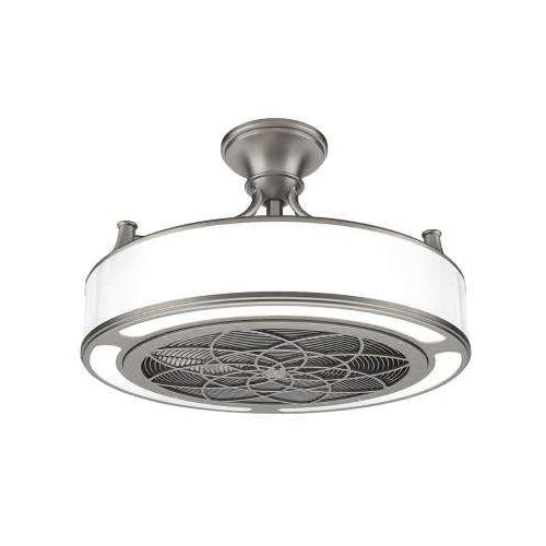 Image of Anderson 22 in. Indoor/Outdoor Brushed Nickel Ceiling Fan Home and Kitchen