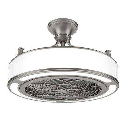 Anderson 22 in. Indoor Outdoor Brushed Nickel Ceiling Fan