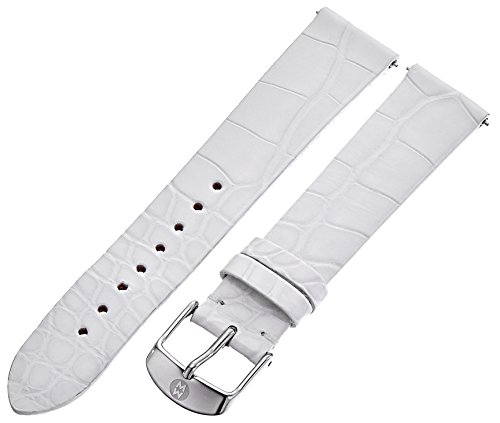 White Alligator Leather Strap (MICHELE MS18AN010100 18mm Leather Alligator White Watch)