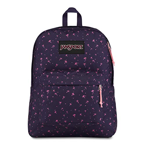 JanSport Black Label Superbreak Backpack - Lightweight School Bag | Palm Life Print