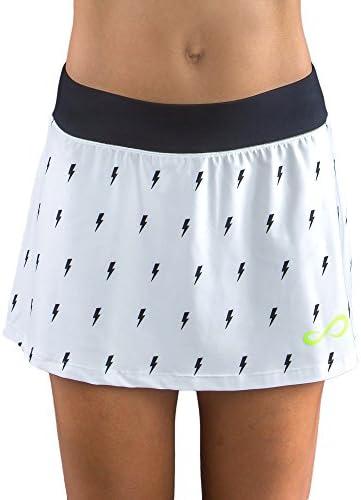 ENDLESS Minimal Thunder Falda de Tenis, Mujer, Blanco, L: Amazon ...