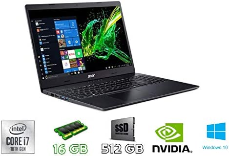 Acer Aspire 3 A315-55G-7045 Nero Computer Portatile 39,6 Cm (15.6″) , 1920 X 1080 Pixel , Intel® Core™ I7 Di Decima Generazione , 16 GB DDR4-SDRAM , 512 GB SSD , Windows 10 Home