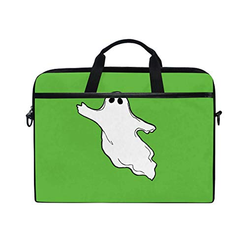 IMOBABY Halloween-Photos-Flying-Ghost-Clipart Laptop Bag Canvas Messenger Shoulder Bag