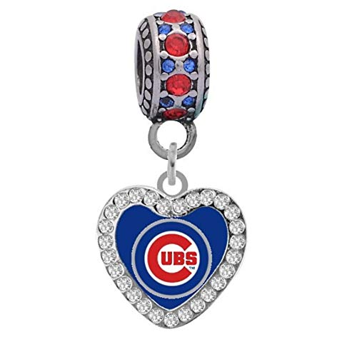 - Final Touch Gifts Chicago Cubs Heart Crystal Charm Fits Most Bracelet Lines Including Pandora, Chamilia, Troll, Biagi, Zable, Kera, Personality, Reflections, Silverado and More ...