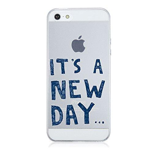 "Price comparison product image Beryerbi iPhone 5 5S SE Case Ultra Slim TPU Soft Shock Absorption & Anti-fingerprint Cover Apple 5 5S SE- 4"" (6, iPhone 5 5S SE)"